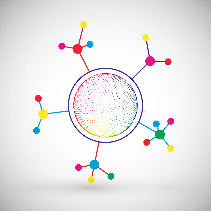 Fondo di comunicazione di tecnologia di colore della rete illustrazione vettoriale