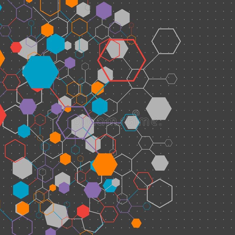 Fondo di comunicazione di tecnologia di colore della rete royalty illustrazione gratis