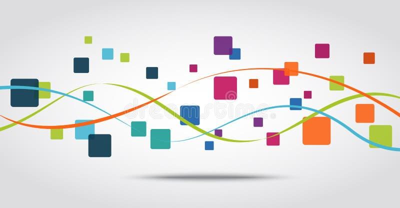 Fondo di concetto dell'icona dei apps dello Smart Phone illustrazione vettoriale