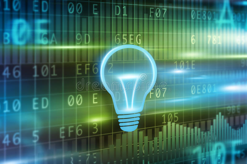Fondo di concetto della lampadina illustrazione vettoriale