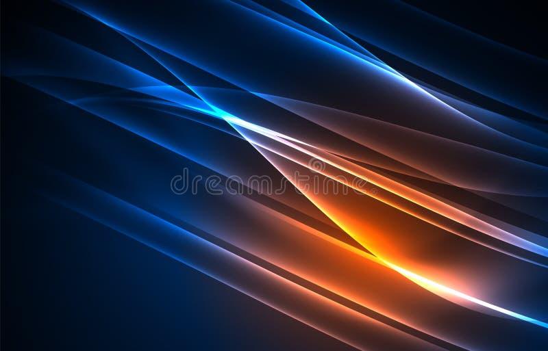 Fondo di concetto delle luci polari di vettore illustrazione di stock