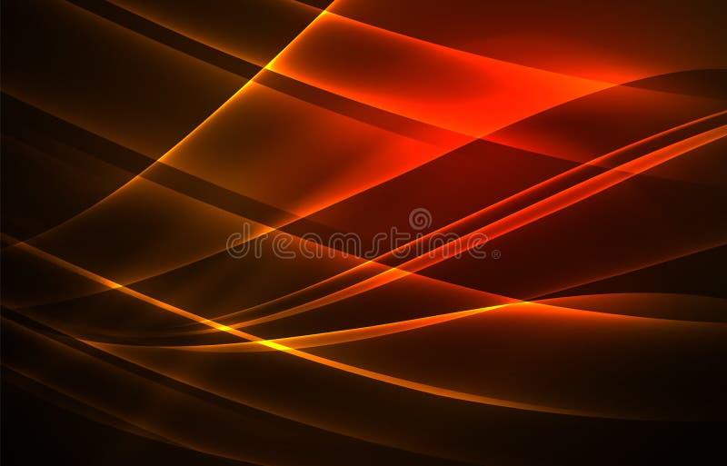 Fondo di concetto delle luci polari di vettore illustrazione vettoriale