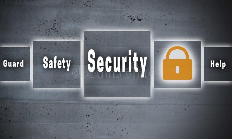 Fondo di concetto dello schermo attivabile al tatto di sicurezza fotografia stock libera da diritti
