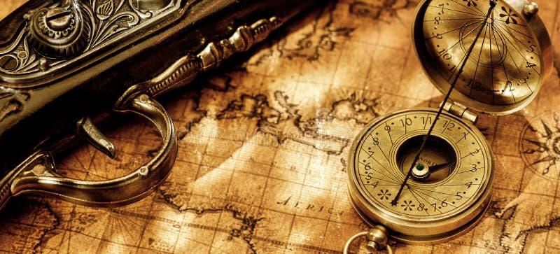Fondo di concetto di navigazione di geografia di viaggio immagini stock