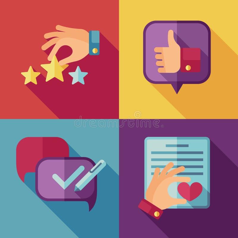 Fondo di concetto di servizio di assistenza al cliente nello stile piano royalty illustrazione gratis