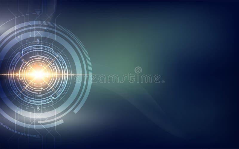 Fondo di concetto di fi di sci di tecnologia di Abtract ciao illustrazione vettoriale