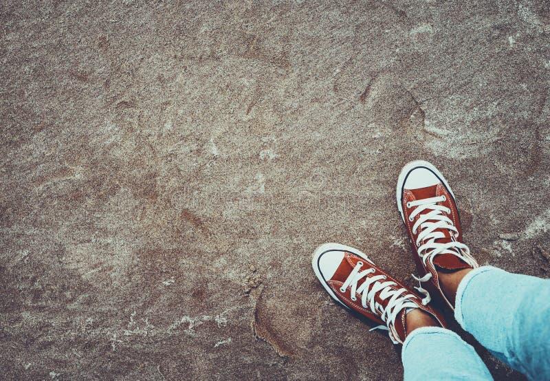 Fondo di concetto di uno stile della via della gioventù fotografia stock libera da diritti