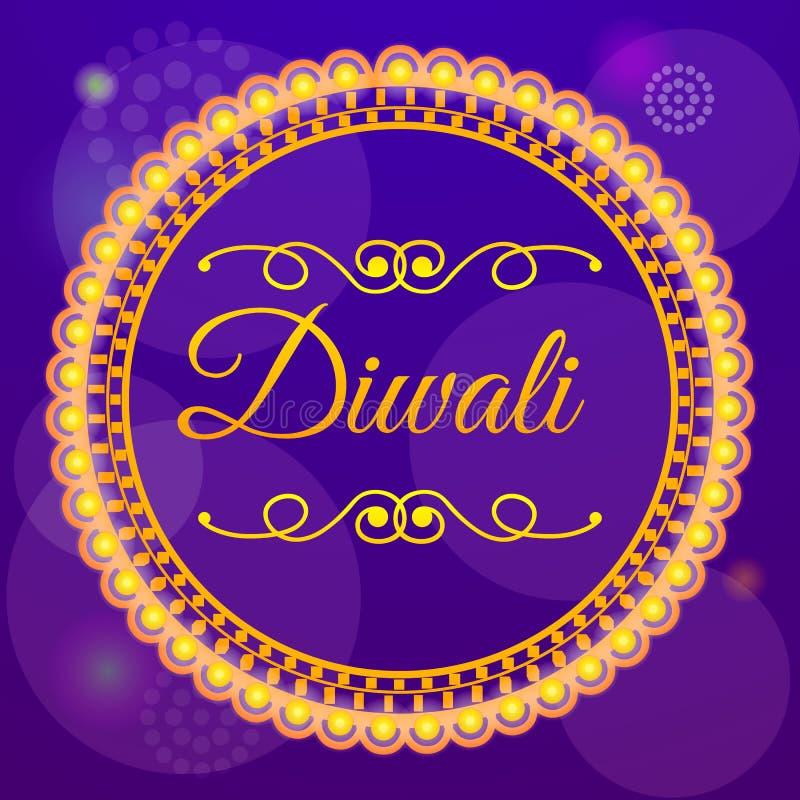 Fondo di concetto di vendita di Diwali, stile del fumetto royalty illustrazione gratis