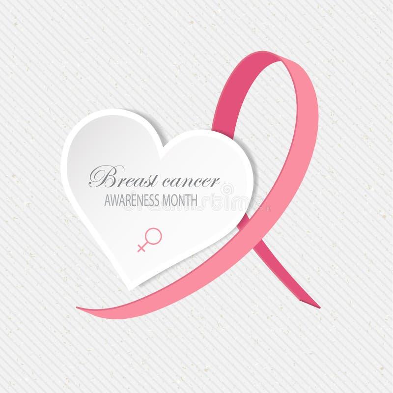 Fondo di consapevolezza del cancro al seno illustrazione vettoriale