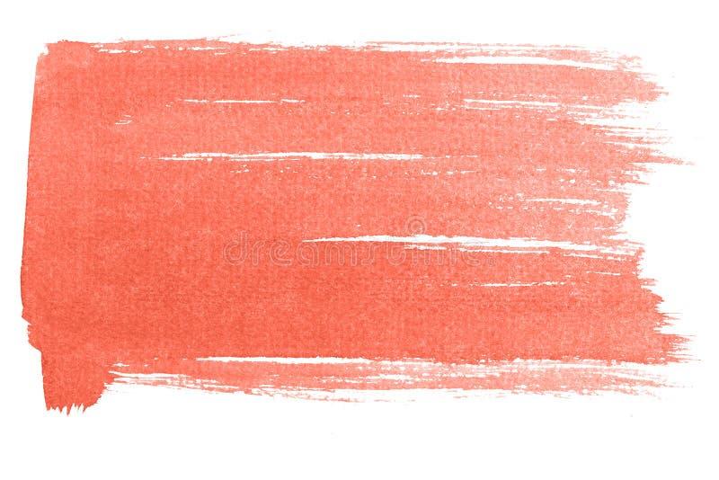 Fondo di corallo vivente dell'acquerello isolato su bianco illustrazione di stock