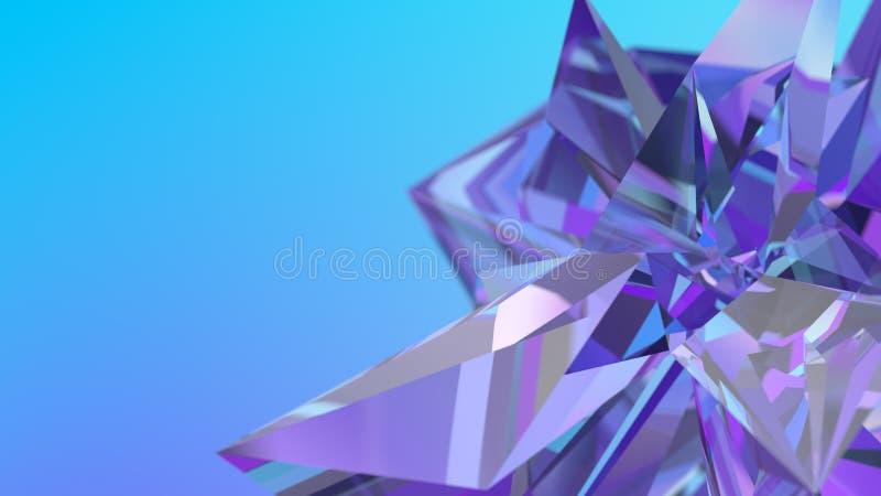 Fondo di cristallo astratto, struttura radiante, gemma sfaccettata, carta da parati poligonale royalty illustrazione gratis