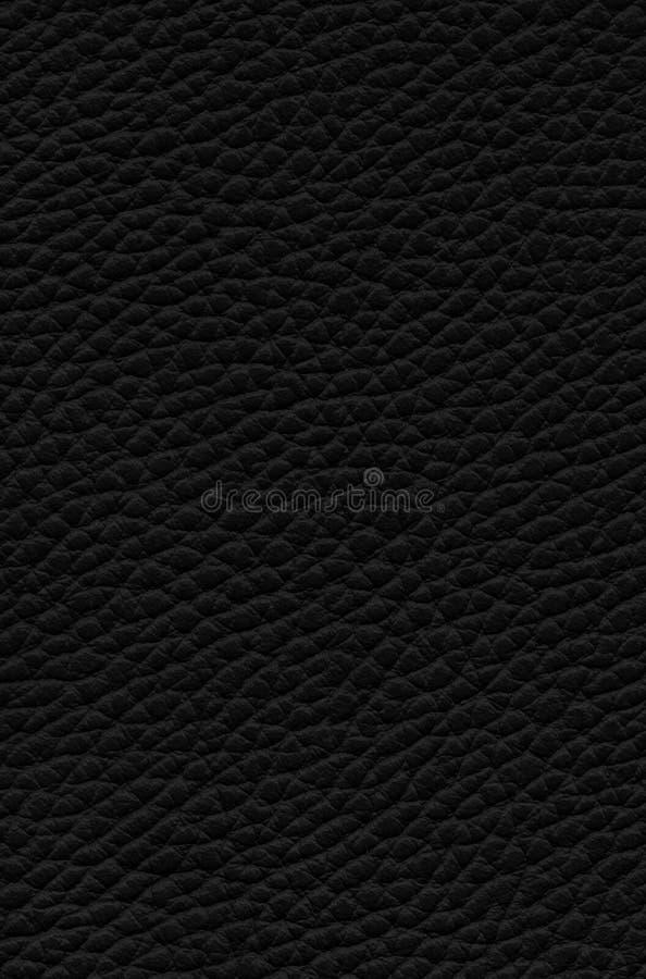 Fondo di cuoio nero di struttura fotografia stock