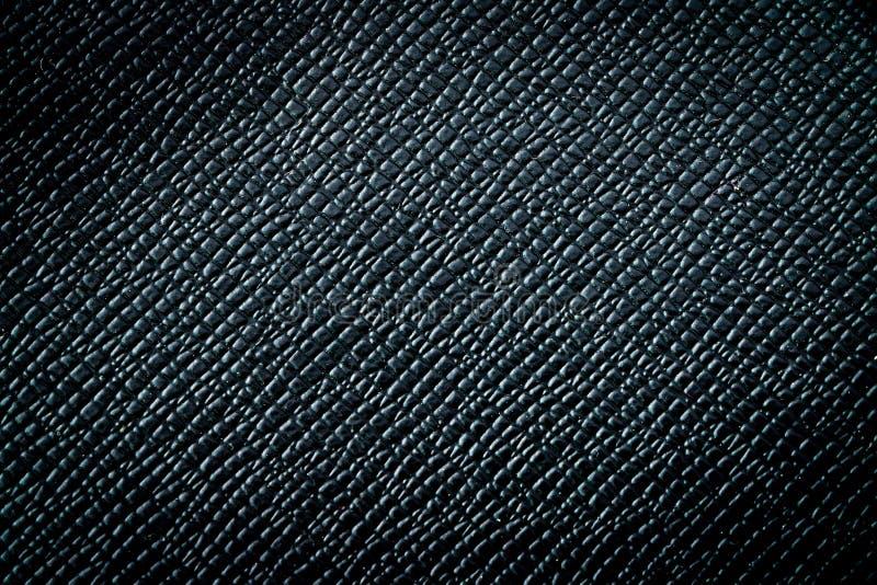 Fondo di cuoio nero di lusso scuro di struttura immagini stock libere da diritti
