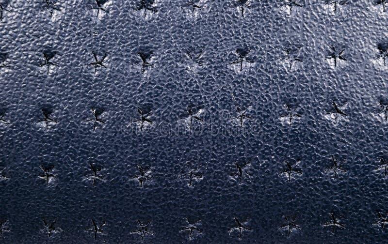Fondo di cuoio perforato blu di struttura Alto vicino del cuoio Macro colpo di struttura di cuoio brillante immagini stock libere da diritti