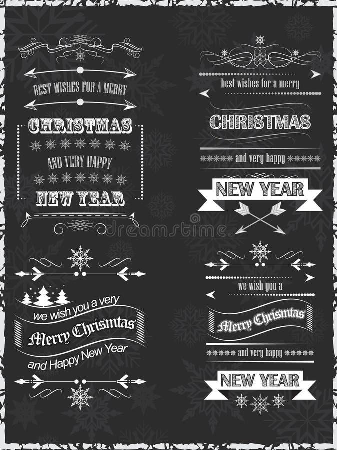 Fondo di desideri di Natale Progettazione per la vostra cartolina d'auguri illustrazione di stock