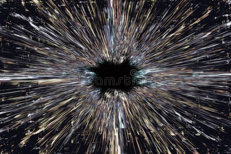 Fondo di esplosione del buco nero fotografia stock libera da diritti