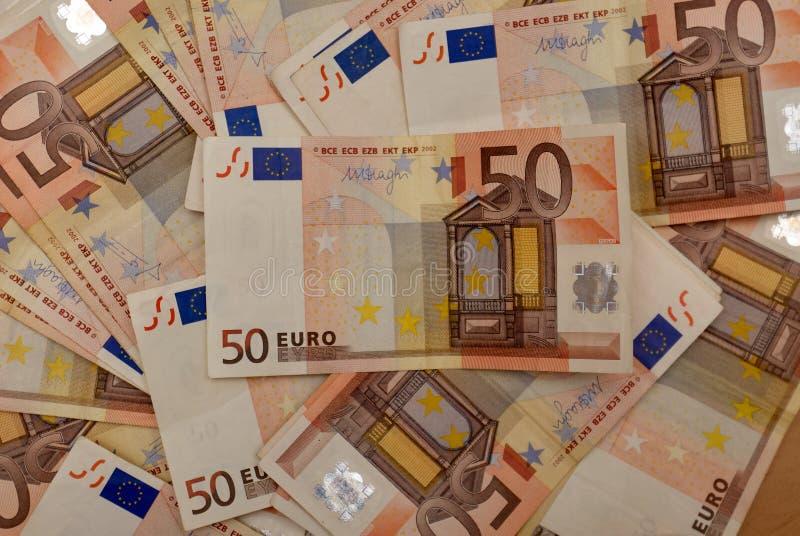 Fondo di euro fatture fotografie stock libere da diritti
