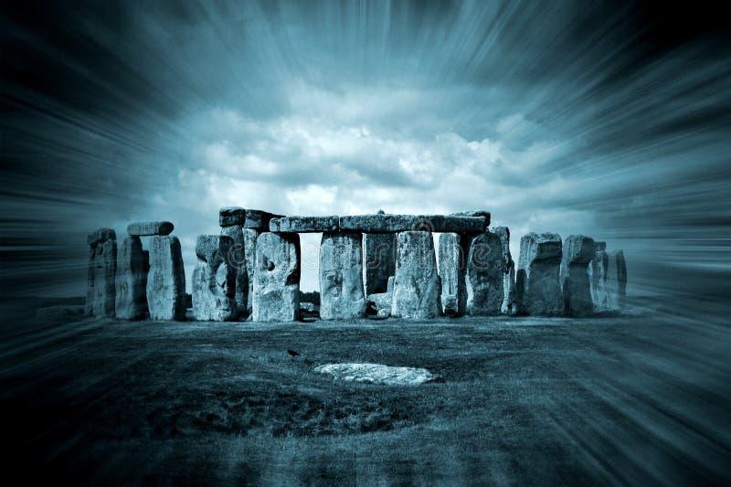 Fondo di fantasia di Stonehenge fotografie stock