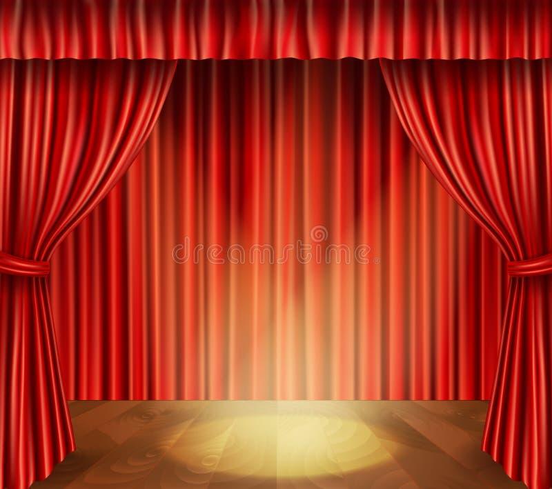 Fondo di fase del teatro illustrazione di stock