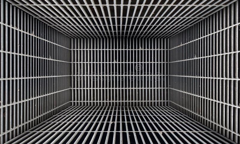 Fondo di fase metallico urbano astratto della stanza di lerciume royalty illustrazione gratis