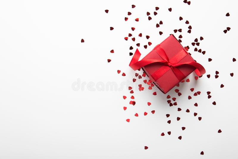 Fondo di festa del nuovo anno e di Natale Cartolina d'auguri di natale Giorno del `s del biglietto di S Feste di amore di inverno immagine stock libera da diritti