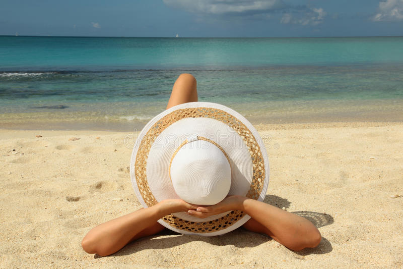 Fondo di festa della spiaggia fotografia stock