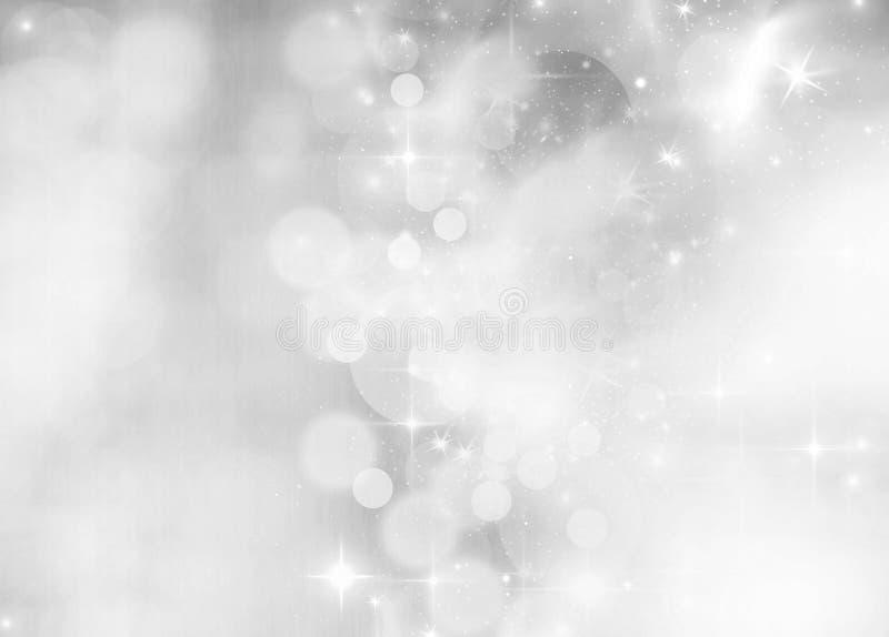 fondo di festa delle luci di Natale fotografia stock