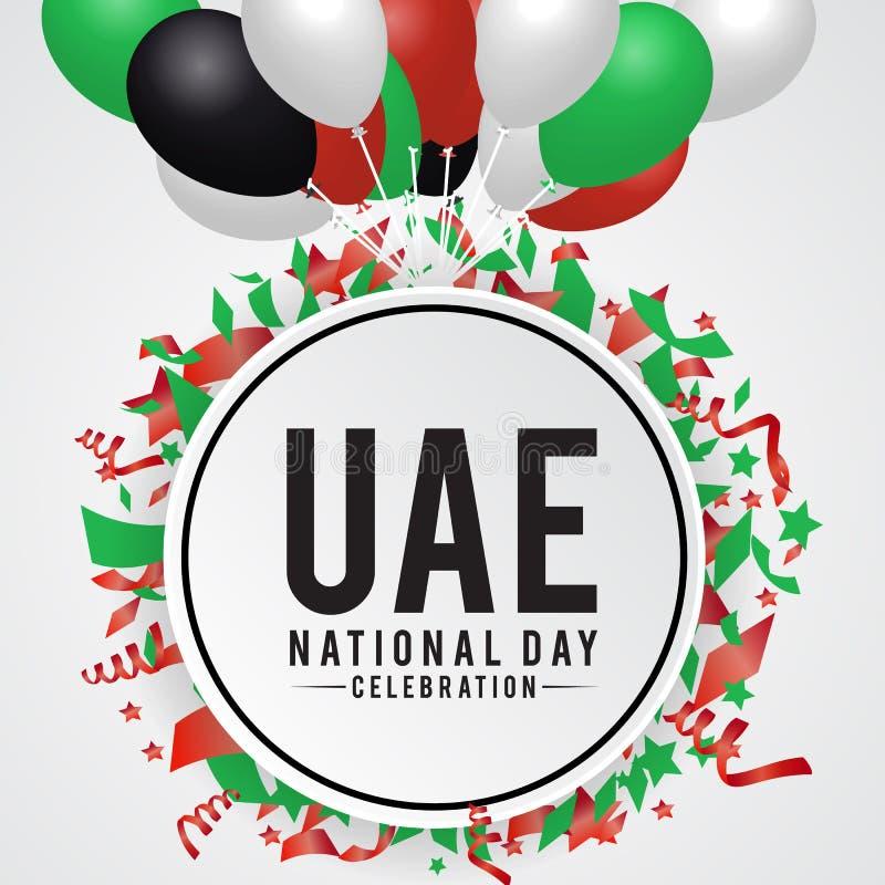 Fondo di festa nazionale degli Emirati Arabi Uniti illustrazione vettoriale