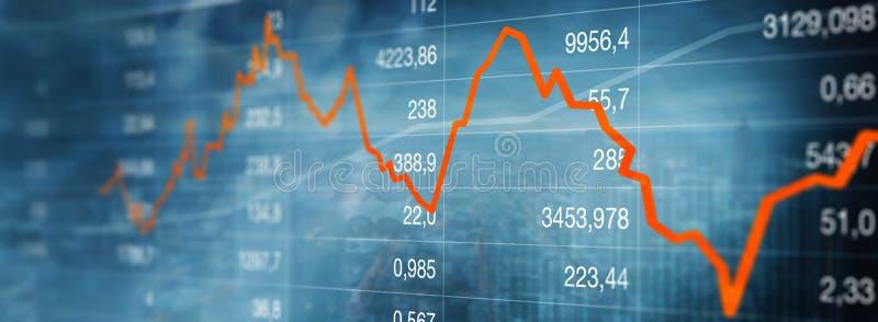 Fondo di finanza del grafico del mercato azionario immagine stock libera da diritti