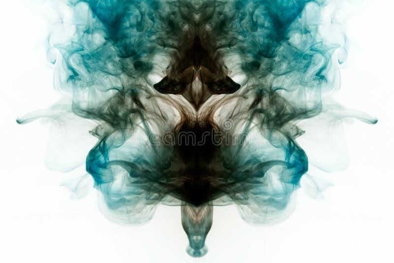 Fondo di fumo colorato del colo blu e rosso scuro del turchese, fotografia stock libera da diritti