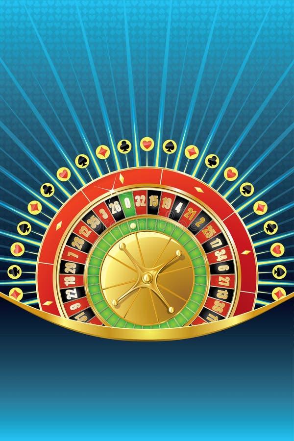 Fondo di gioco astratto con le roulette illustrazione vettoriale