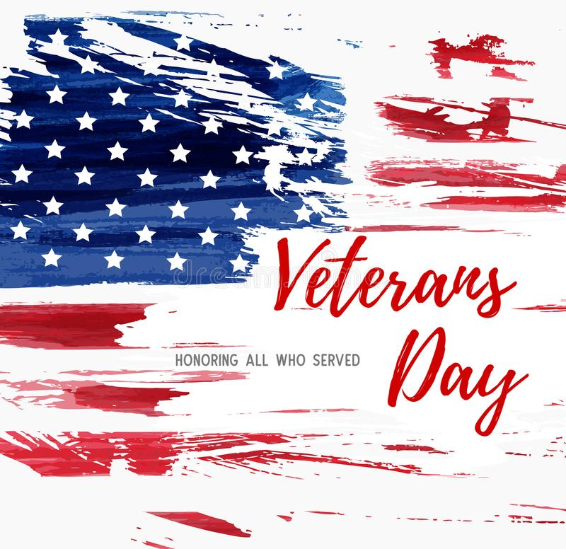 Fondo di giornata dei veterani di U.S.A. royalty illustrazione gratis