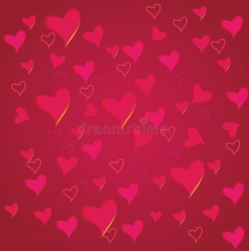 Fondo di giorno del ` s del biglietto di S. Valentino con cuore immagini stock