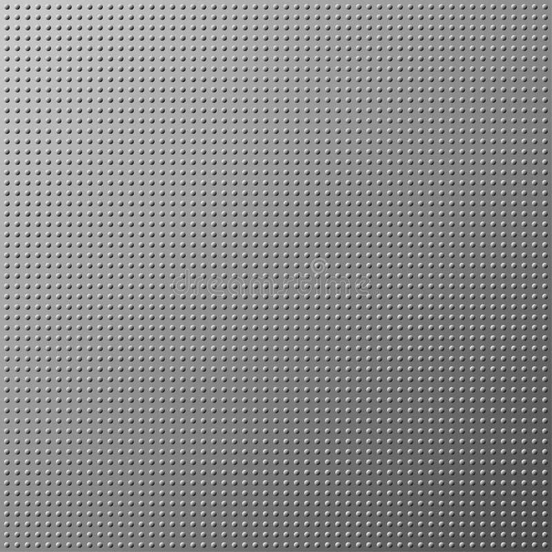 Fondo di gray di struttura del punto del metallo illustrazione di stock