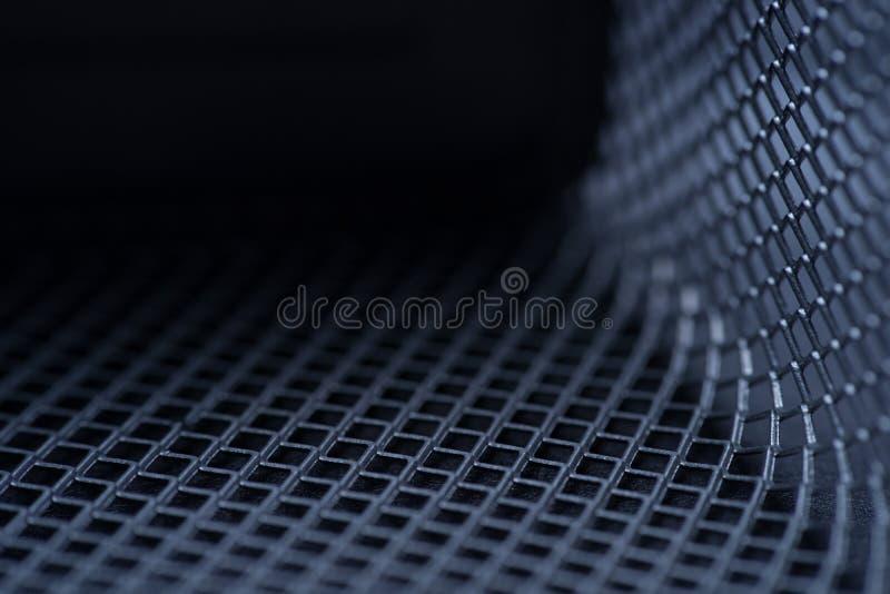 fondo di griglia del metallo, monocromio del fondo Metallo della priorità bassa Posto per testo fotografia stock