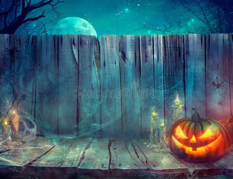 Fondo di Halloween con la zucca illustrazione vettoriale
