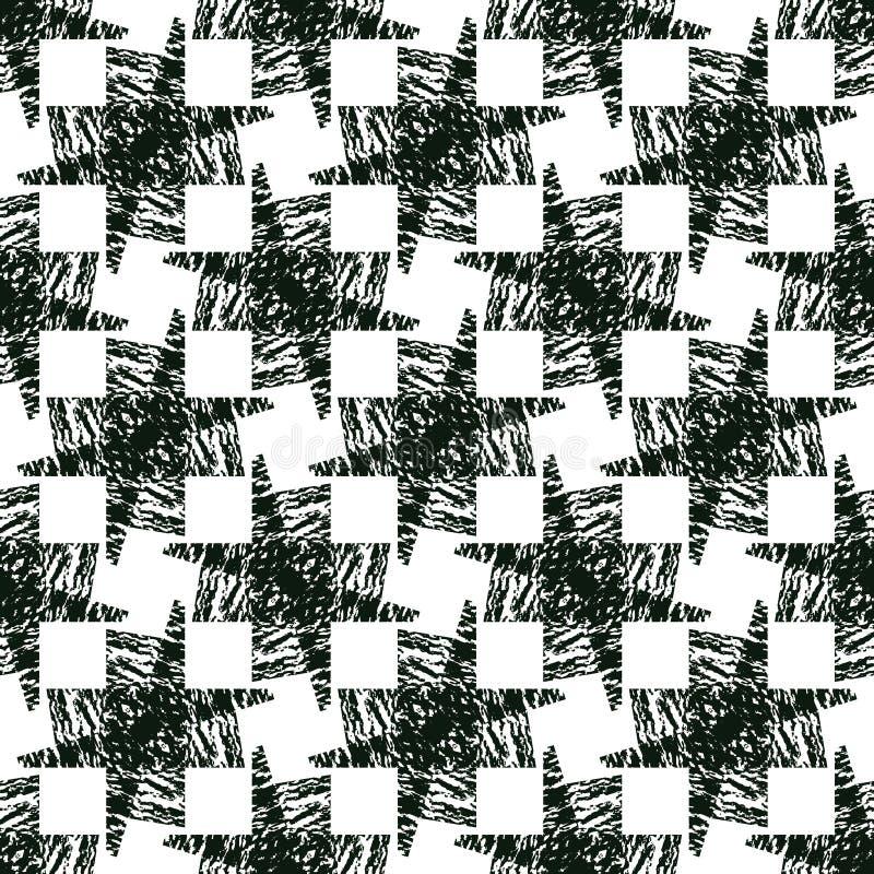 Download Fondo Di Illusione Senza Cuciture Monocromatico Astratto Illustrazione Vettoriale - Illustrazione di geometrico, luminoso: 56892076