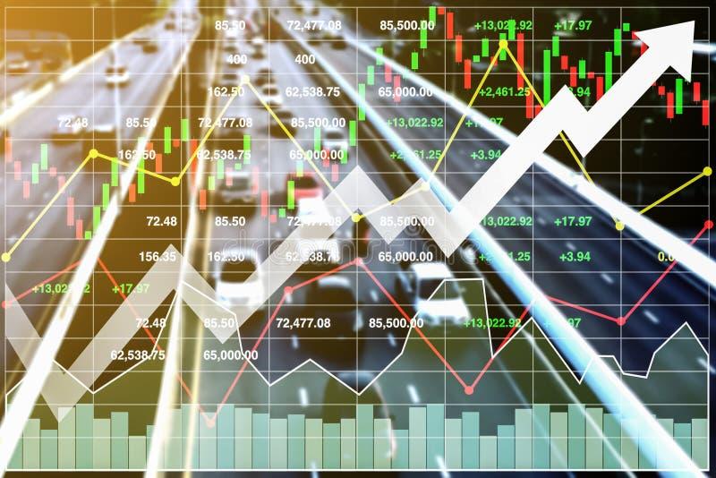 Fondo di indice di borsa di finanza di affari dell'affare del trasporto illustrazione di stock