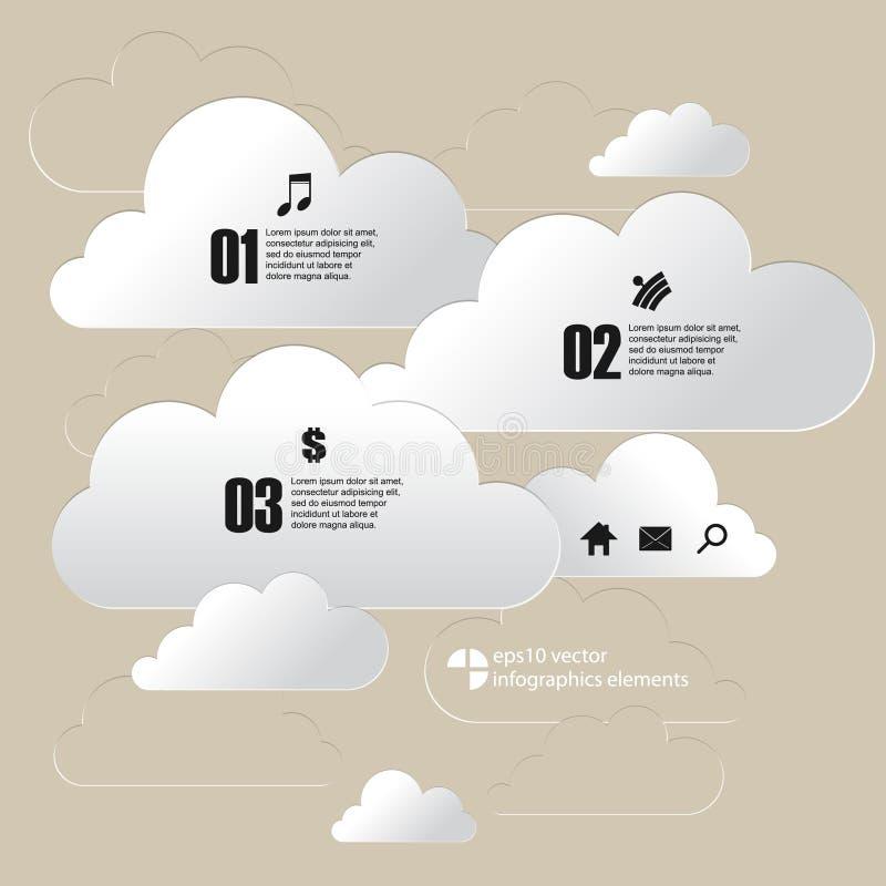 Download Fondo Di Infographics Della Nuvola Del Cromo Di Vettore Illustrazione Vettoriale - Illustrazione di numeri, grafico: 56881319