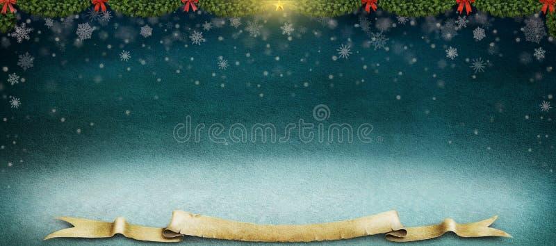 Fondo di inverno di notte. royalty illustrazione gratis
