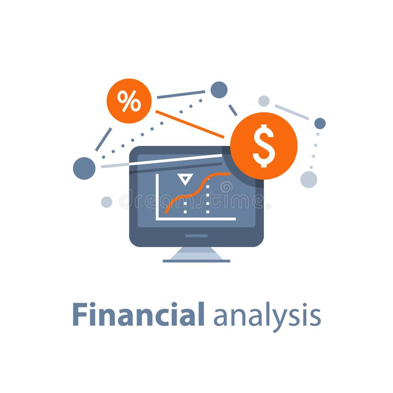Fondo di investimento mutualistico, gestione di fiducia, strategia di investimento, analisi finanziaria, hedge fund, mercato azio royalty illustrazione gratis