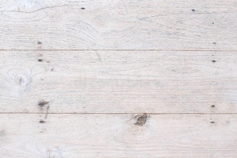 Fondo di legno bianco della plancia fotografia stock