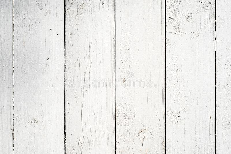 Fondo di legno bianco delle plance fotografia stock libera da diritti