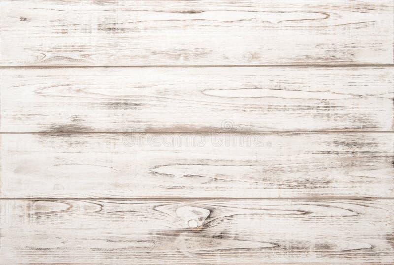 Fondo di legno bianco di struttura con i modelli naturali fotografia stock