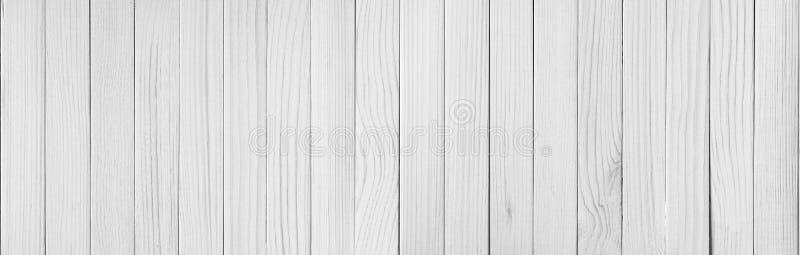 Fondo di legno bianco di struttura della plancia fotografia stock