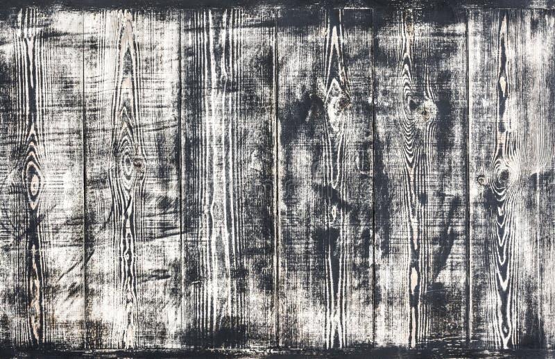 Fondo di legno in bianco e nero fotografie stock