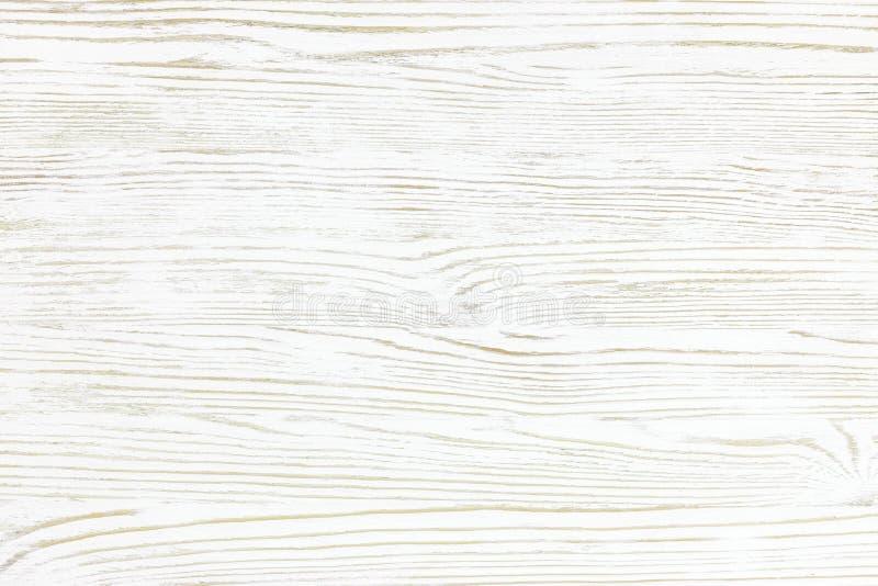 Fondo di legno bianco di struttura con il modello naturale fotografia stock