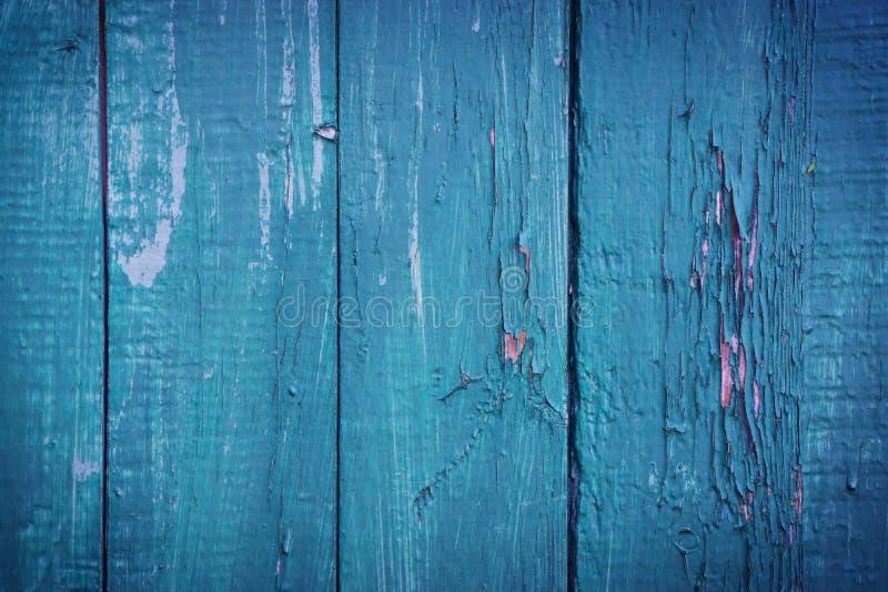 Fondo di legno blu-verde fotografia stock libera da diritti