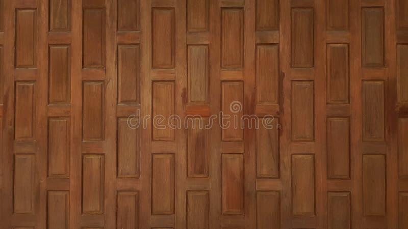 Fondo di legno di Brown nello stile tailandese immagini stock