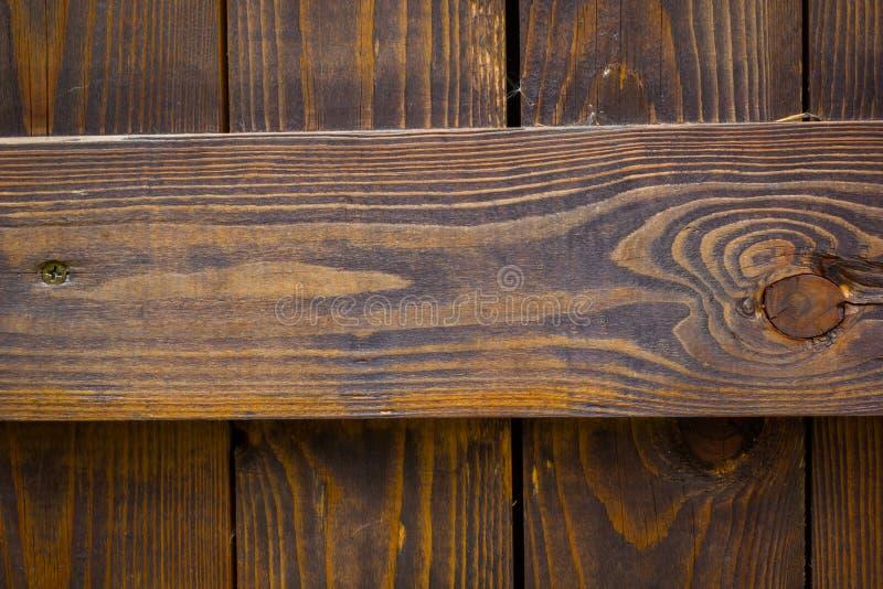 Fondo di legno con le linee orizzontali, copyspace di struttura immagini stock